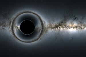 В паутину гигантской черной дыры попали целые галактики