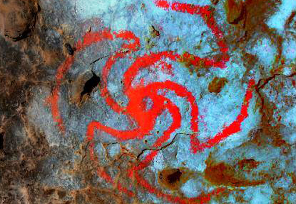 В США нашли древние наскальные изображения галлюциногенов