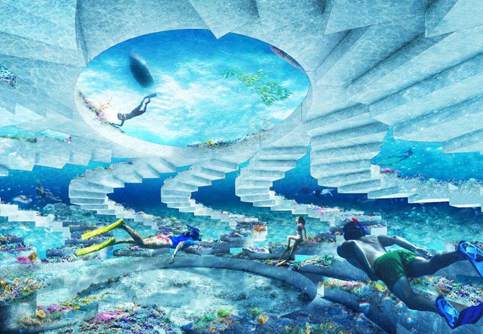 В Майами-Бич откроют уникальный рифовый парк подводных скульптур.Вокруг Света. Украина