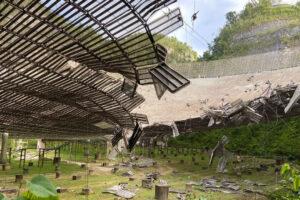 У легендарного радиотелескопа Аресибо оборвался еще один трос