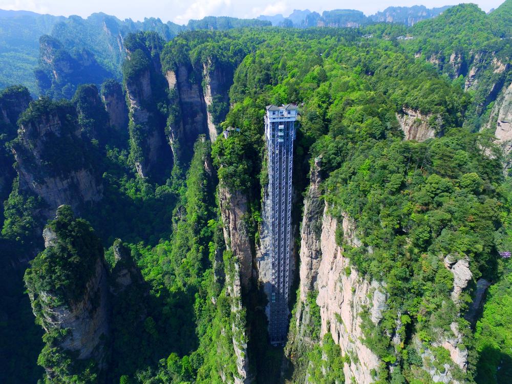 Байлонг: самый высокий открытый лифт в мире