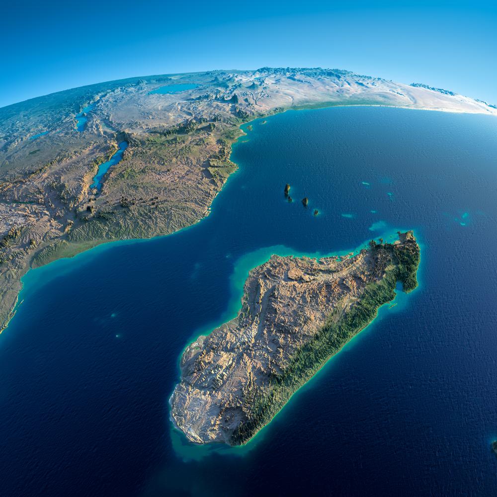 Мадагаскар распадается со скоростью 7 миллиметров в год