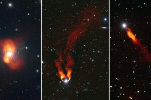 Галактики из скопления Персея выглядят, будто языки пламени: завораживающие радиоснимки