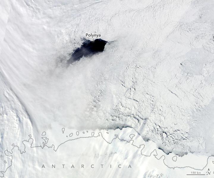 Атмосферные «реки» из теплого воздуха формируют гигантские дыры во льдах Антарктики.Вокруг Света. Украина