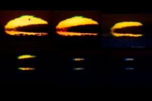 Итальянский астрофотограф запечатлел редкое явление - зеленый луч солнца