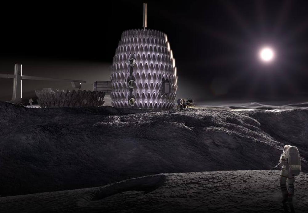 NASA планирует напечатать лунную базу из лунной пыли на 3D-принтере