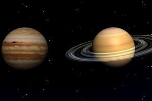 Когда и где можно увидеть «рождественский поцелуй» Юпитера и Сатурна?