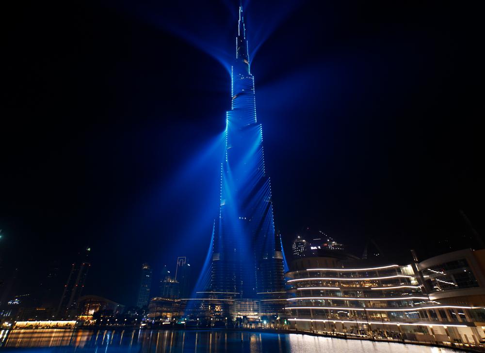 Burj Dubai Tower Light Show