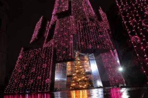 Рождественская ель в Вильнюсе стала самой красивой в Европе
