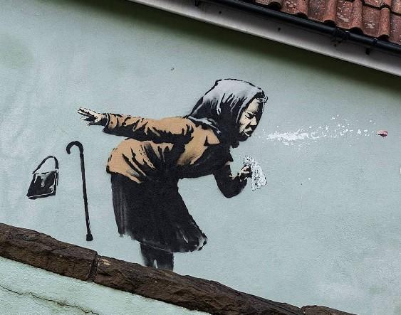 Бэнкси нарисовал «чихающее» граффити