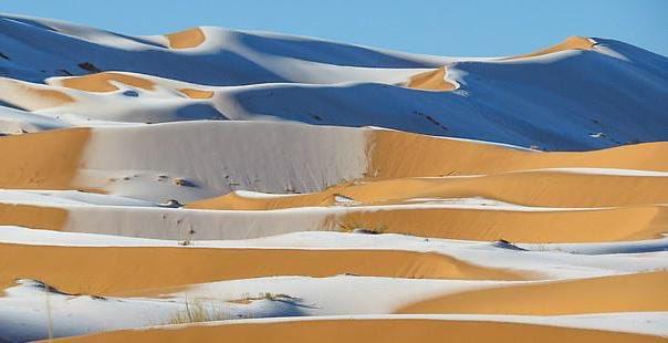 В пустыне Сахара выпал снег.Вокруг Света. Украина
