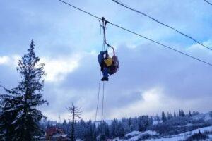 В Славском 1 января лыжники застряли на подъемнике