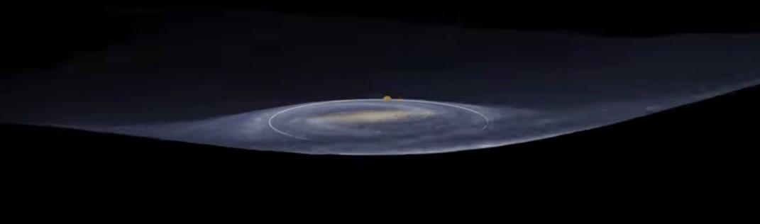 Млечный Путь не плоский, а изгибается