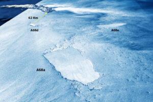 Гигантский айсберг A68a прекращает существование