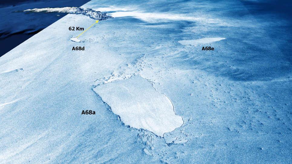 Гигантский айсберг A68a прекращает существование.Вокруг Света. Украина