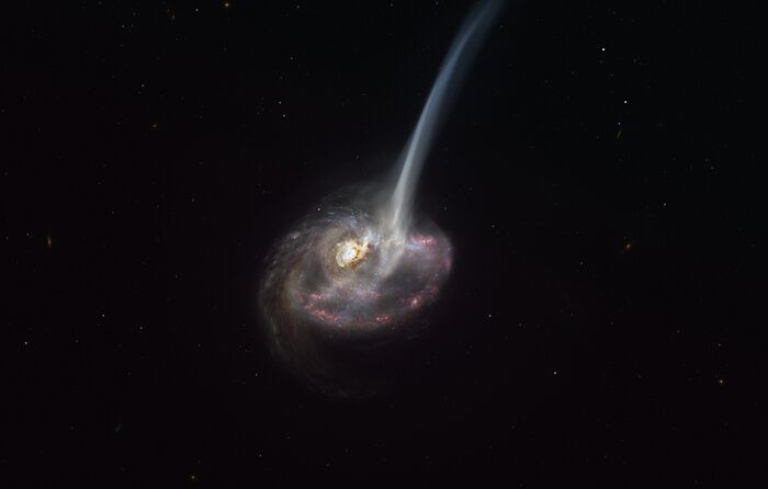 Астрономы впервые засекли начало гибели далекой галактики