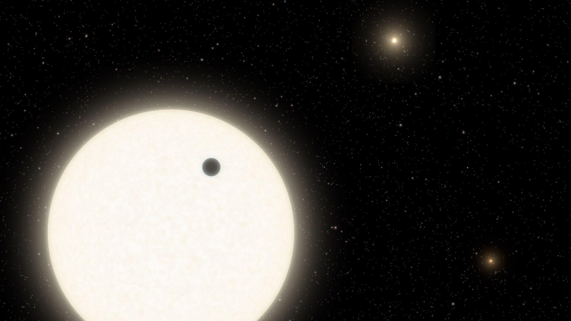 Астрономы открыли экзопланету с тремя солнцами
