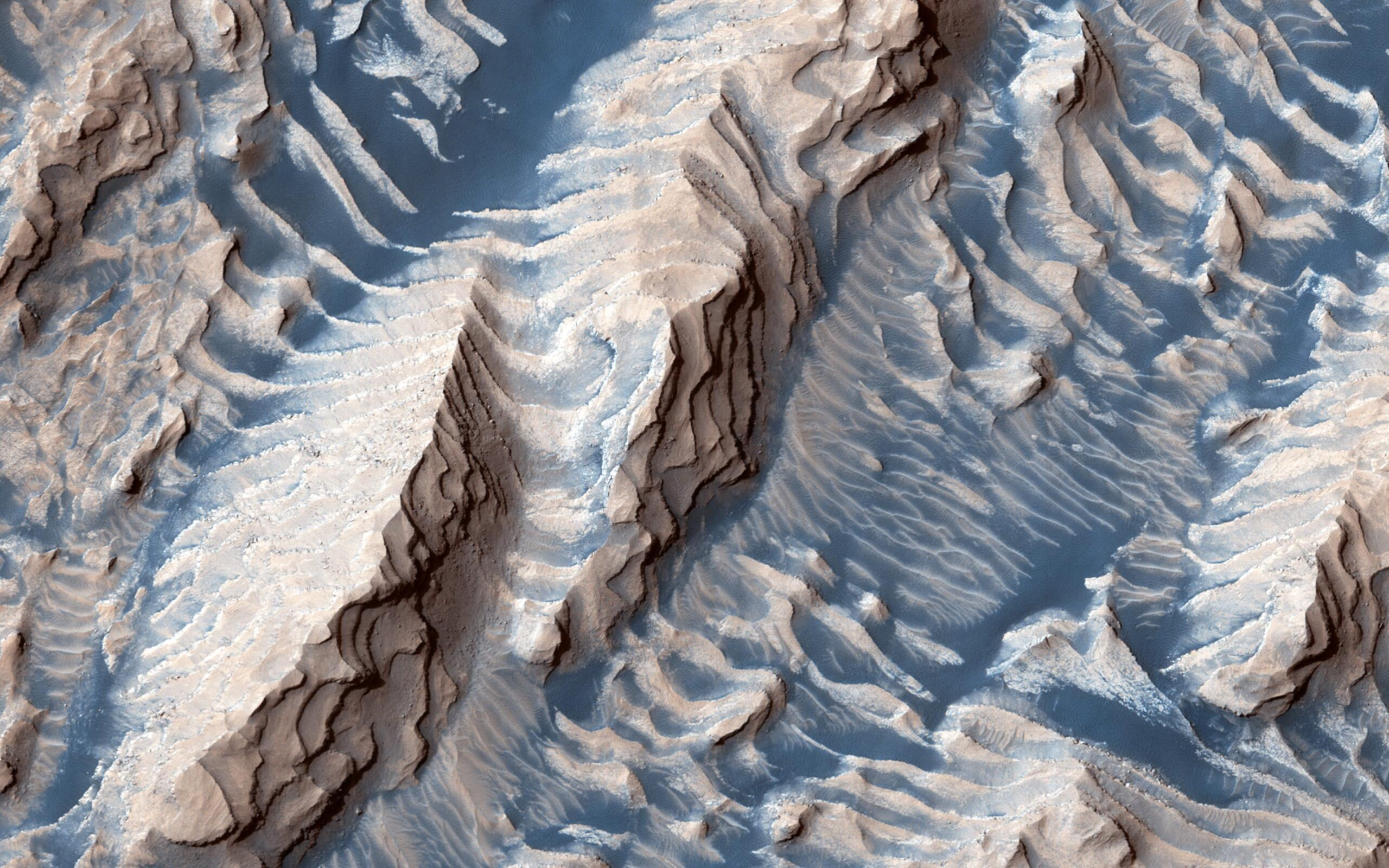 Рельеф Марса хранит историю 20 ледниковых периодов.Вокруг Света. Украина