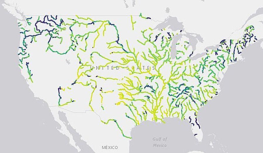 Синие, зеленые, желтые: многие реки в США поменяли цвет.Вокруг Света. Украина