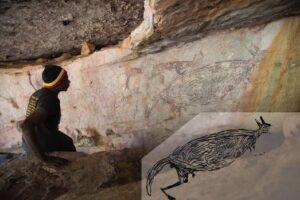 В Австралии датировали древнейший наскальный рисунок кенгуру