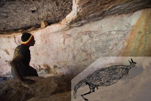 В Австралии датировали древнейший наскальный рисунок кенгуру.Вокруг Света. Украина