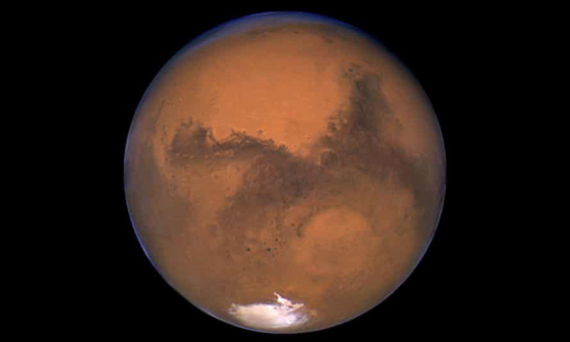Жизнь на Марсе?Утечка водяного пара предлагает новые подсказки