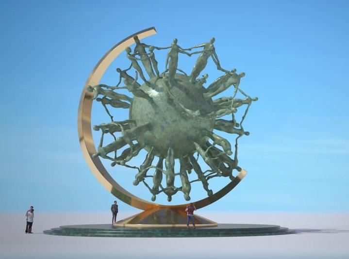 В Дубае появится монумент пандемии от украинского скульптора