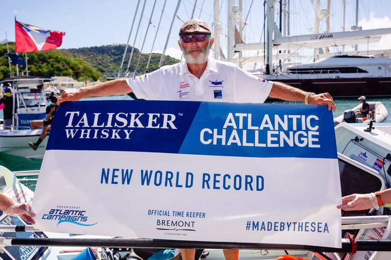70-летний британец в одиночку пересек Атлантический океан. Это рекорд