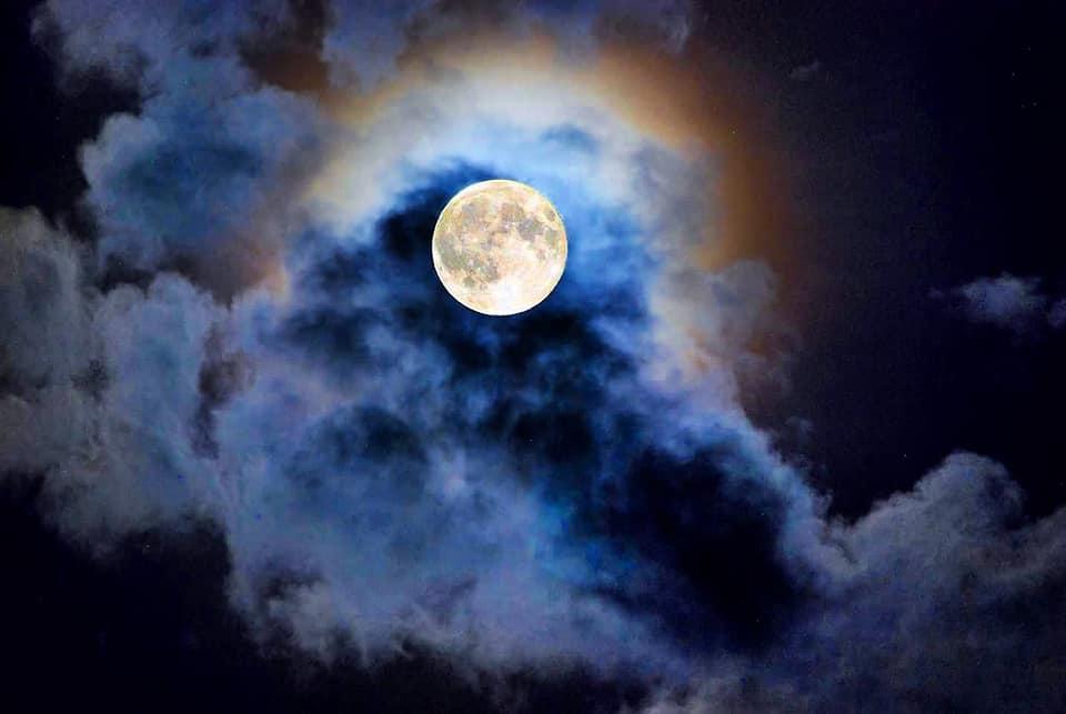 Вчера земляне наблюдали яркую и близкую Червячную Луну: фото