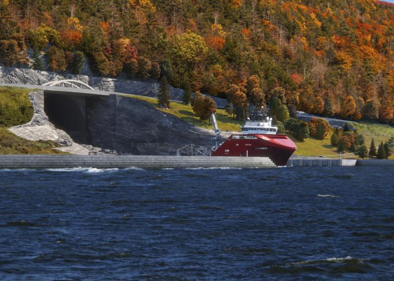 В Норвегии построят первый в мире горный корабельный туннель