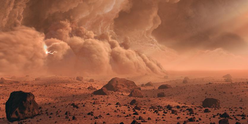 Пыльные бури на Марсе искрятся и сверкают, но не опасны для марсоходов.Вокруг Света. Украина