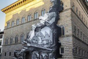 Во Флоренции памятник архитектуры украсили трещиной