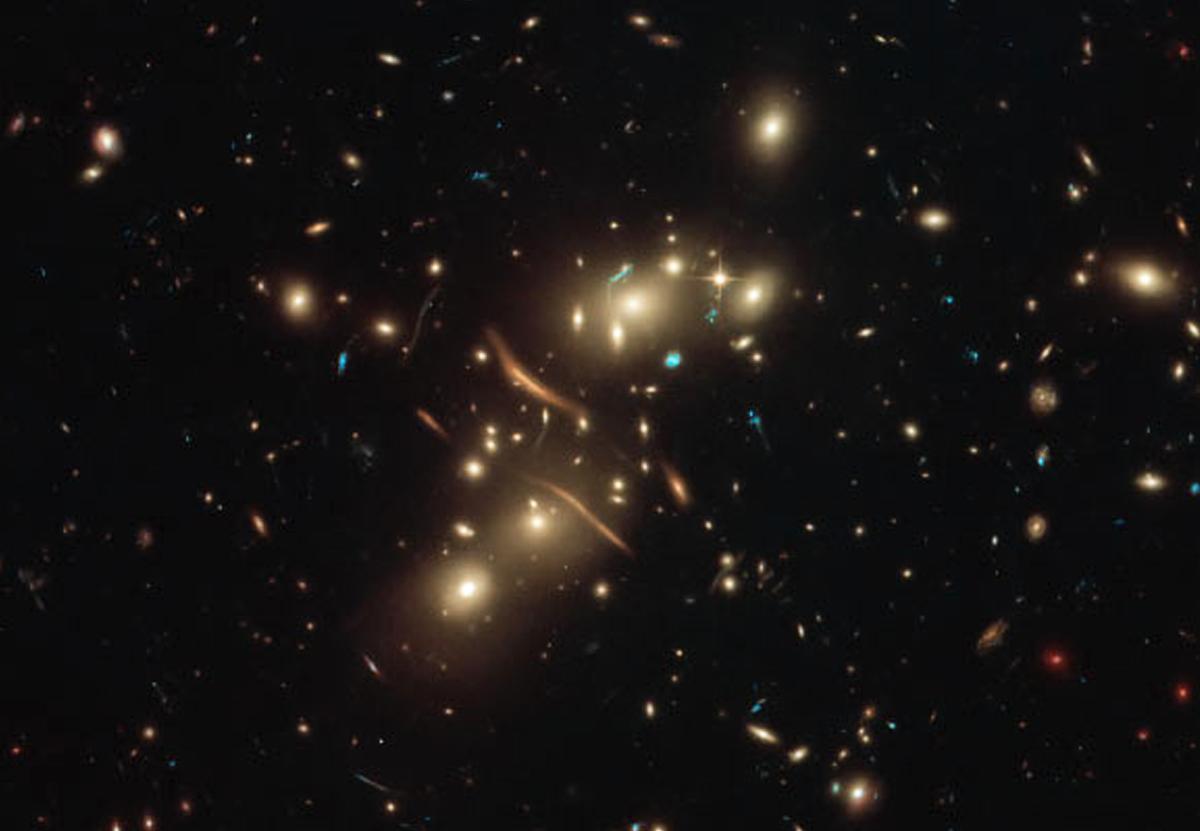 Hubble запечатлел огромное скопление галактик в созвездии Кита