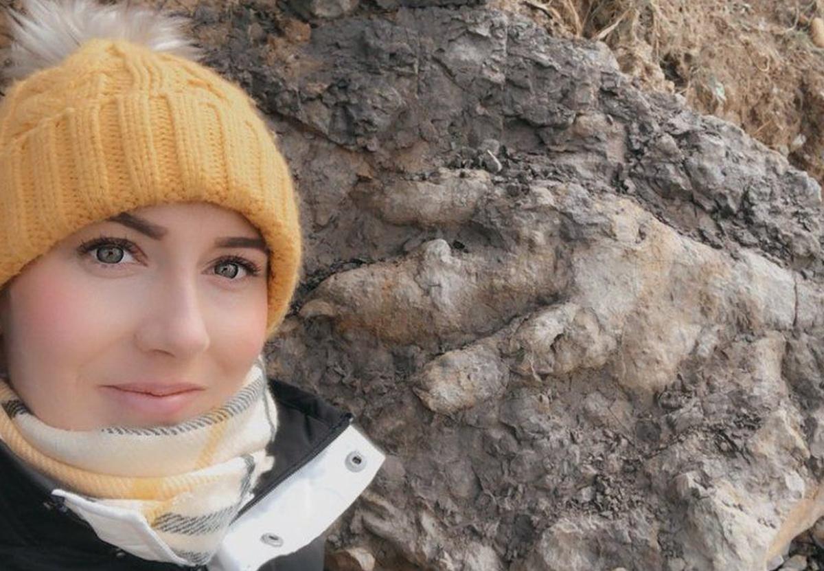Собирательница моллюсков нашла след динозавра, которому 175 млн лет