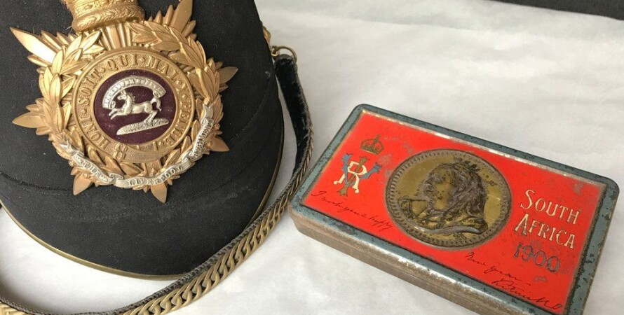 В музейном военном шлеме в Великобритании нашли 121-летний шоколад