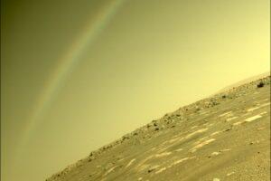 Perseverance сфотографировал радугу на Марсе