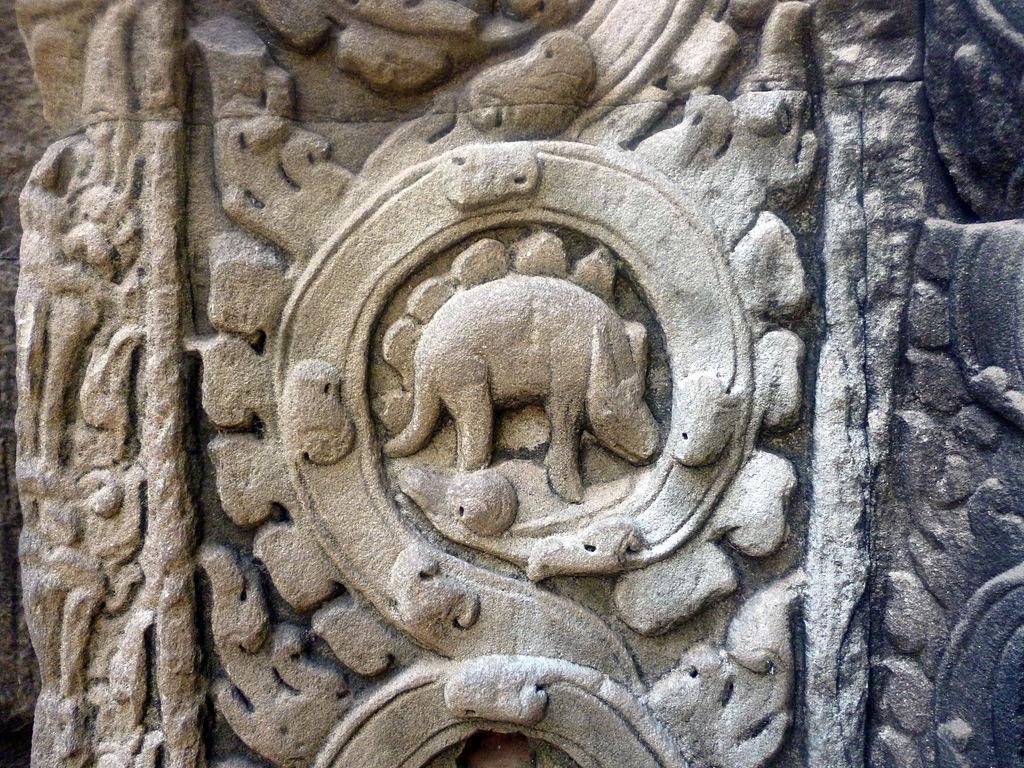 Откуда в храме Ангкора взялось изображение стегозавра?.Вокруг Света. Украина