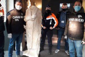 Украденную в Риме древнюю статую нашли в антикварном магазине Брюсселя