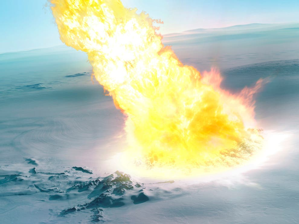 430 000 лет назад над Антарктидой взорвался крупный метеорит.Вокруг Света. Украина