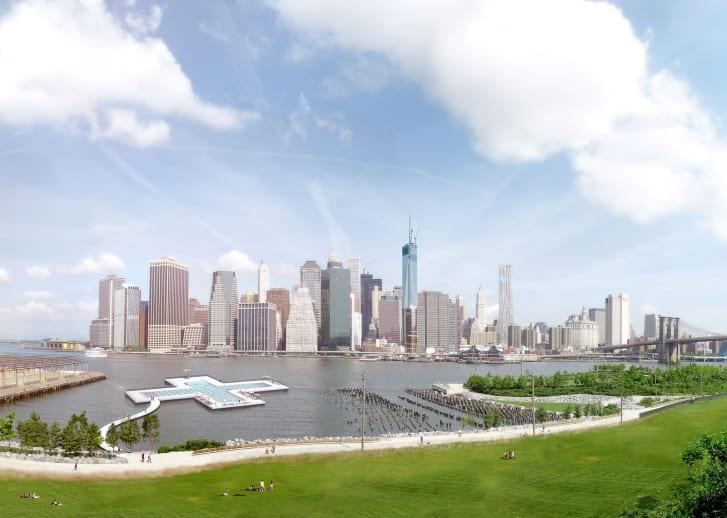 В Нью-Йорке появится плавучий бассейн с видом на Манхэттен.Вокруг Света. Украина
