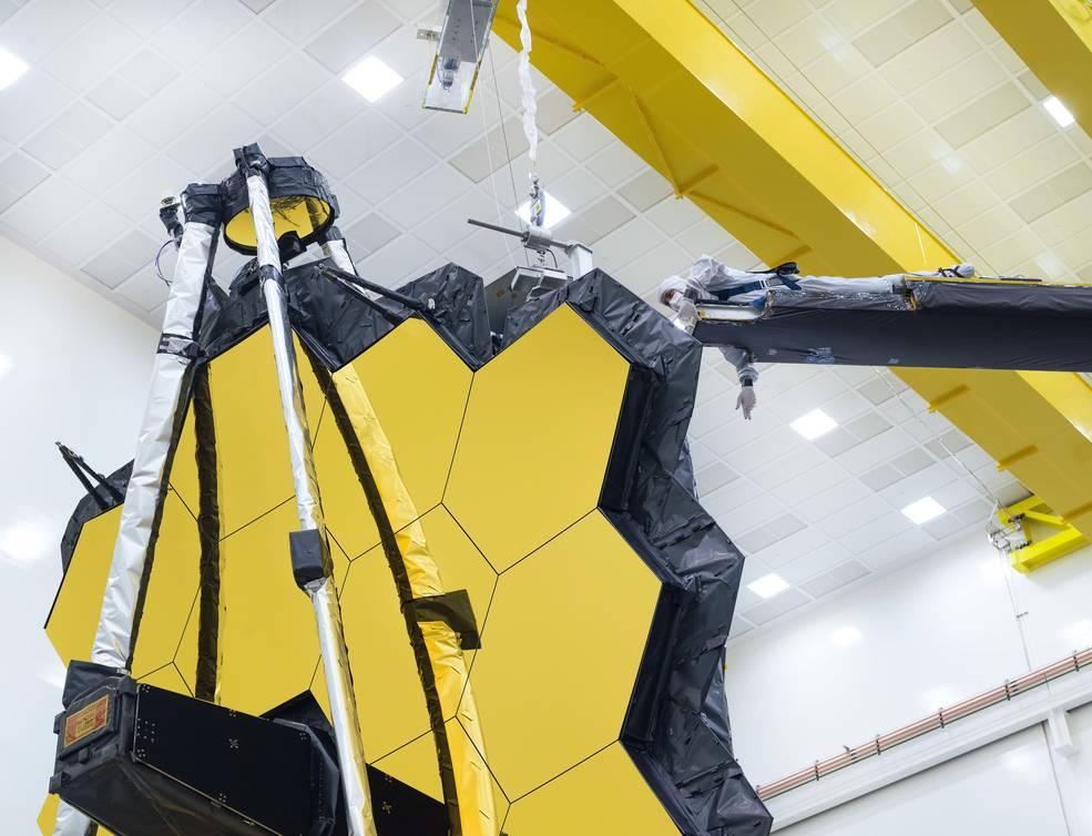 Золотое зеркало телескопа «Джеймс Уэбб» прошло финальную проверку: видео