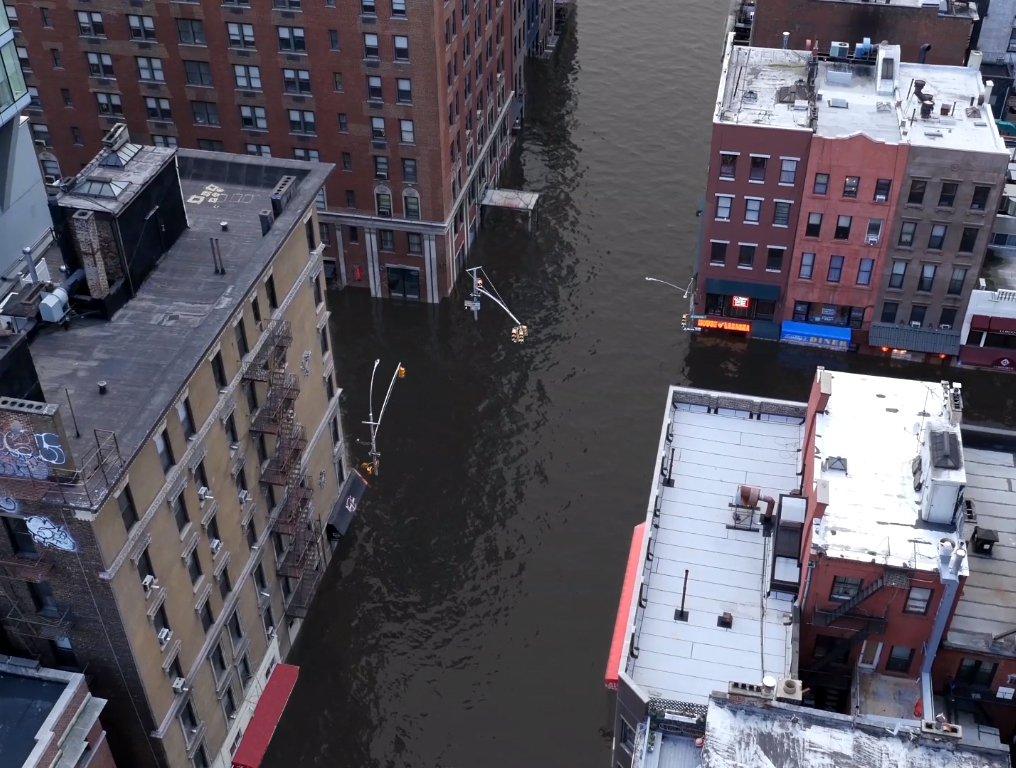 Глобальное потепление: художники смоделировали потоп в Нью-Йорке.Вокруг Света. Украина