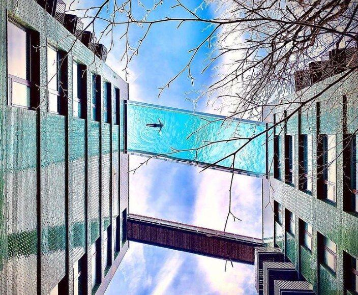 В Лондоне на высоте 35 метров открыли стеклянный бассейн.Вокруг Света. Украина