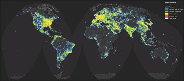 Итальянские астрономы составили атлас светового загрязнения Земли.Вокруг Света. Украина