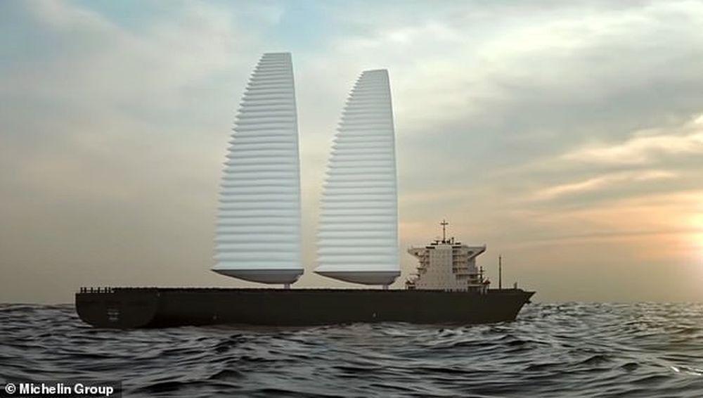 Компания Michelin придумала автоматические паруса, которые сэкономят топливо на больших судах