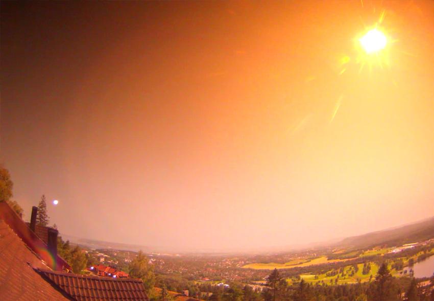 В Норвегии упал крупный метеорит: видео