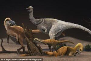 Как динозавры-альваресзавры уменьшились в размере от страуса до курицы