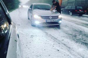 В Одессе выпал снег