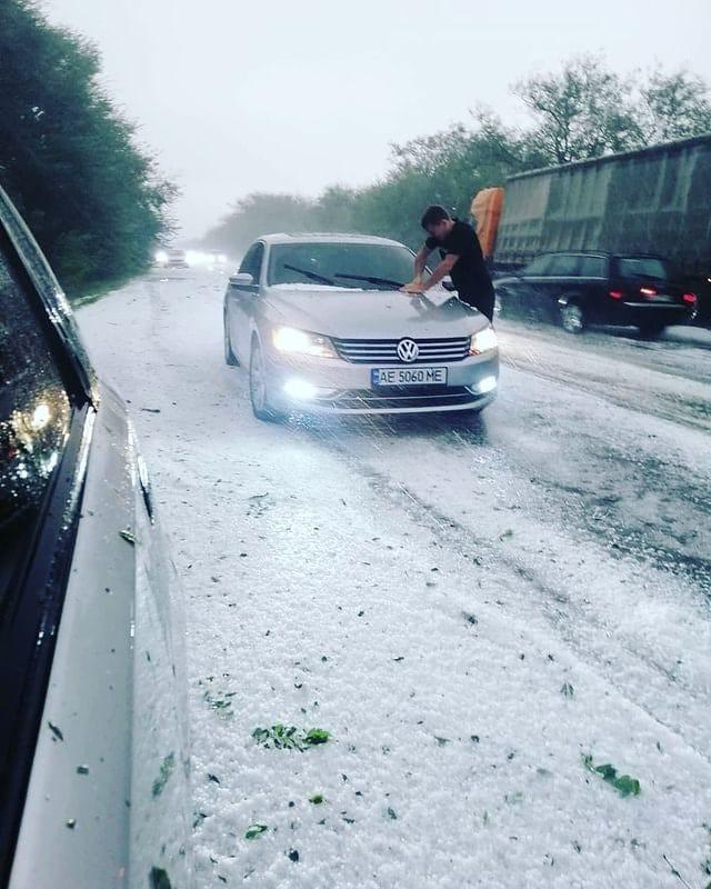 В Одессе выпал снег.Вокруг Света. Украина