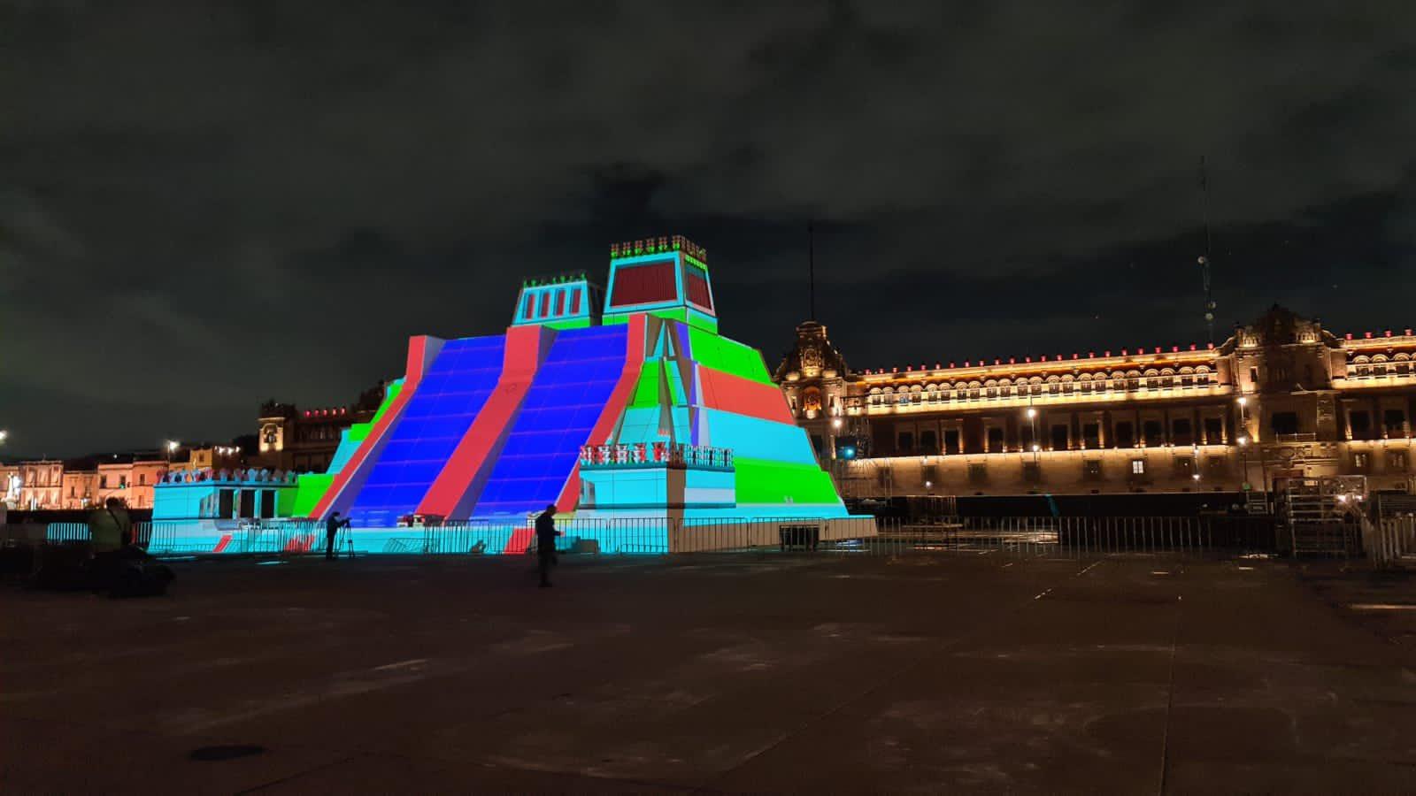 В Мексике построили неоновую копию храма ацтеков.Вокруг Света. Украина